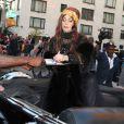 Lady Gaga se rend à la soirée de lancement de son parfum Fame, au musée Guggenheim de New York, le 13 septembre 2012.