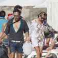 Kate Moss, son mari Jamie Hince en vacances à Ibiza, le 15 septembre 2012.