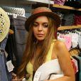 """""""Lindsay Lohan faisant du shopping à Huntington Beach, le 10 août 2012."""""""