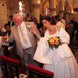 Thierry Olive et Annie lors de leur mariage religieux en l'église de Gavray, le 14 septembre 2012
