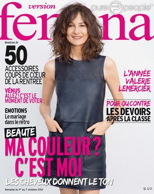Retrouvez l'interview de Valérie Lemercier dans  Version Femina , 1er octobre.