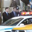 Chace Crawford alias Nate est arrêté sur le tournage de la série Gossip Girl, à New York, le 1er octobre 2012