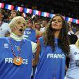 Marie-Claire Noah entourée de ses enfants et petits-enfants la finale de l'Eurobasket 2011 entre la France et Espagne à Kaunas en Lituanie le 19 septembre 2011