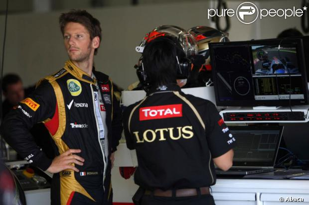 Romain Grosjean le 5 octobre 2012 lors du Grand Prix du Japon à Suzuka durant les qualifications