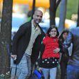 Pep Guardiola, ex-entraîneur du FC Barcelone heureux accompagne sa fille Maria à l'école le 11 octobre 2012 à New York