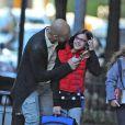 Pep Guardiola, ex-entraîneur du FC Barcelone accompagne sa fille Maria à l'école le 11 octobre 2012 à New York