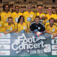 Michel Bastos, Jenifer, M. Pokora, Christian Karembeu, Sonny Anderson, Rémy Vercoutre et MC Solaar lors du Foot-Concert qui se déroulait à Lyon le 13 octobre 2012 au profit de l'association Huntington Avenir