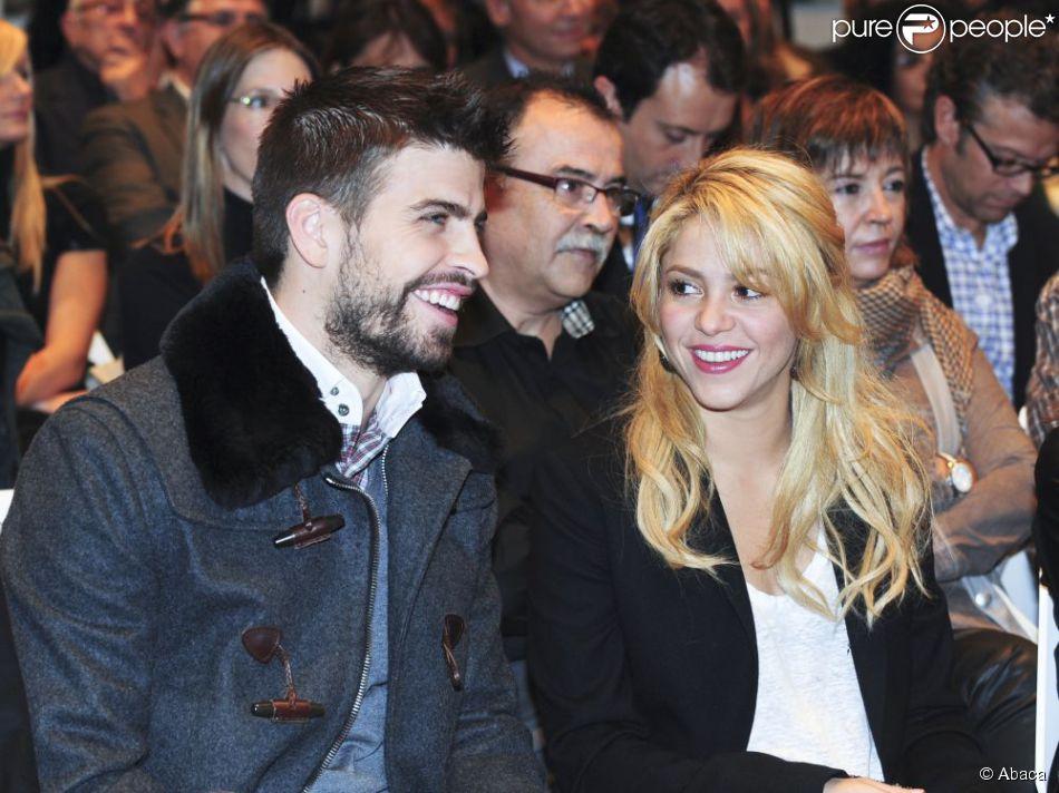 Shakira et Gerard Piqué à Barcelone le 17 novembre 2011