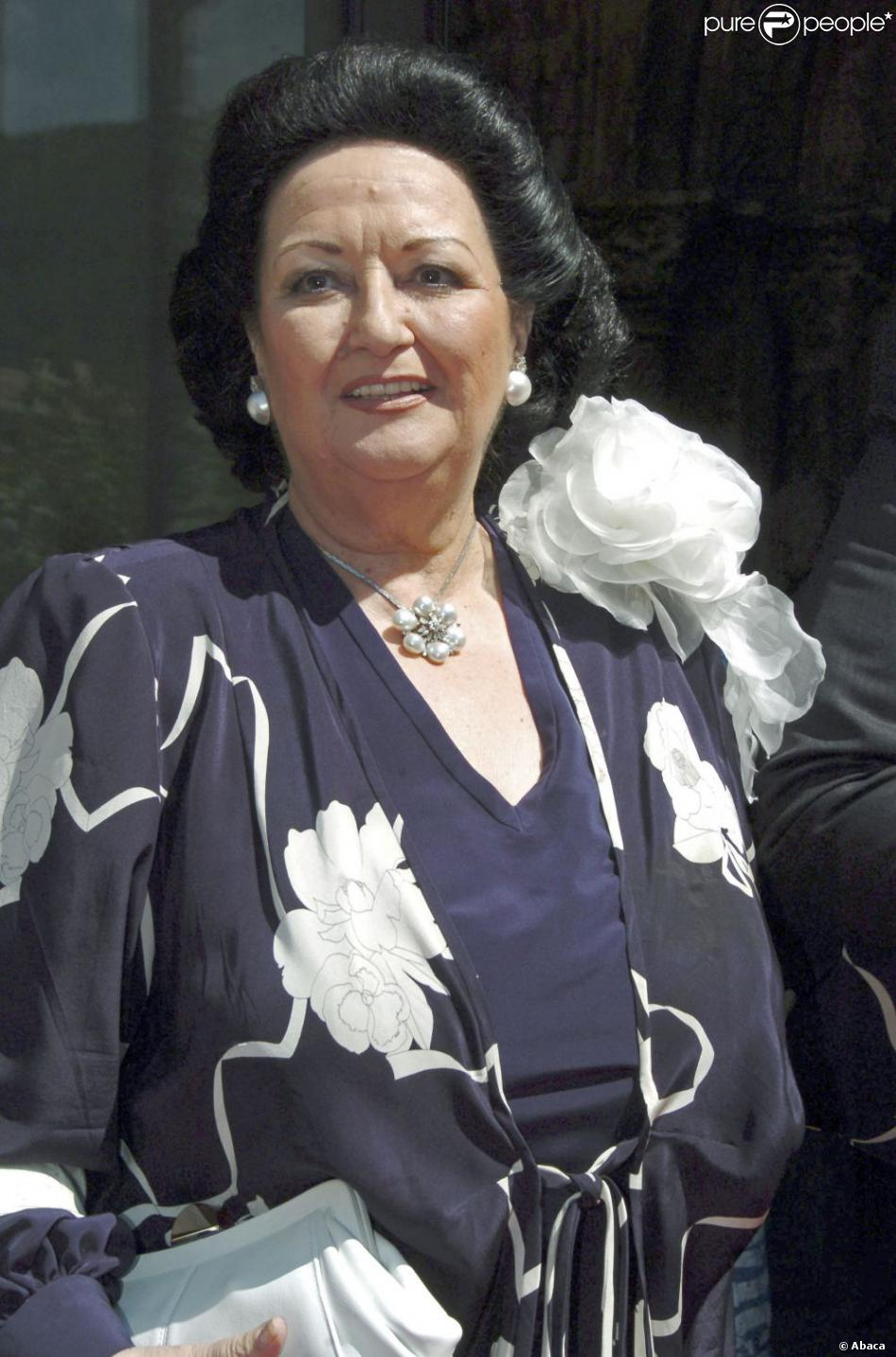 Montserrat Caballé en août 2006 au mariage de sa fille.