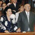 Montserrat Caballé au mariage de sa fille en 2006.