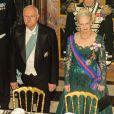 Le président slovaque et la reine Margrethe II de Danemark. Dîner d'Etat au palais de Fredensborg le 23 octobre 2012 en l'honneur de la visite présidentielle slovaque au Danemark.