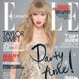 Taylor Swift en couverture du numéro de décembre du  Elle  Canada.