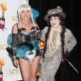 Debbie Harry et Bette Midler au bal annuel d'Halloween organisé par l'actrice, à New York, le 31 octobre 2012.