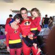 Toute la famille de Jessica Alba déguisée pour Halloween 2012.