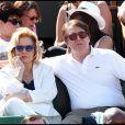 Sylvie Vartan et son mari Tony Scotti à Roland Garros le 1er juin 2011.