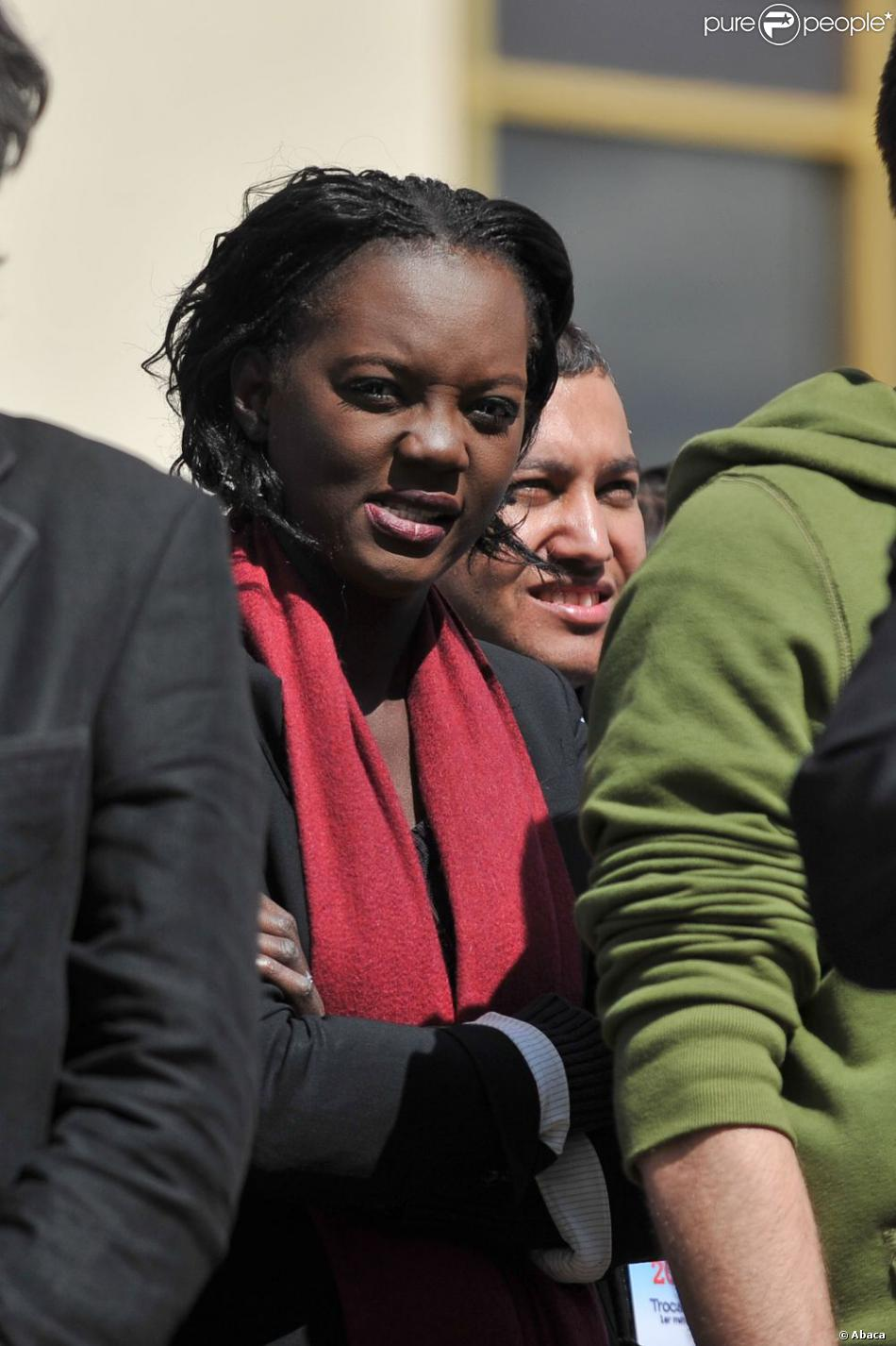 Rama Yade à Paris, le 1er mai 2012.