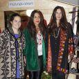 Tatiana Santo Domingo et son associée Dana Alikhani présentant le 6 novembre 2012 les nouveautés de leur marque éthique de commerce équitable The Muzungu Sisters. Dans la soirée, la fiancée d'Andrea Casiraghi a ensuite révélé officiellement sa grossesse, lors de la cérémonie des Telva Fashion Awards organisée dans un palace de Madrid le 6 novembre 2012.