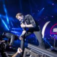 EXCLU : Johnny Hallyday sur scène à Tel Aviv, le 30 octobre 2012.
