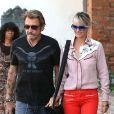 Johnny et Laeticia Hallyday lors d'une séance shopping à Pacific Palisades le 27 Septembre 2012 à Los Angeles
