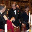 Le prince William et la duchesse Catherine prenaient part le 8 novembre 2012 à une soirée de bienfaisance pour les 600 ans de l'université de St Andrews, où est né leur amour, au Middle Temple Inn à Londres.