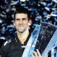 Le Serbe Novak Djokovic remporte le Masters de Londres face à Roger Federer, le 12 novembre 2012.