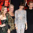 Jessica Biel, Scarlett Johansson, Toni Collette et Helen Mirren sur le tapis rouge du film  Hitchcock , à New York, le 18 novembre 2012.