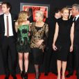 Jessica Biel, James D'Arcy, Scarlett Johansson, Toni Collette, Helen Mirren, Danny Huston sur le tapis rouge du film  Hitchcock , à New York, le 18 novembre 2012.