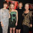 Jessica Biel, Scarlett Johansson, Toni Colette et Helen Mirren, casting féminin glamour sur le tapis rouge du film  Hitchcock , à New York, le 18 novembre 2012.