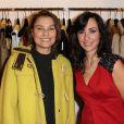 L'actrice Elli Medeiros soutient Rowena Forrest en assistant la soirée d'inauguration de la boutique Lady R Forrest par la jeune créatrice. Paris, le 16 novembre 2012.