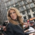 Céline Dion signe des autographes et pose pour des photos avec ses très nombreux fans à Paris le 24 novembre 2012.