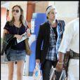 Colin Farrell et Alicja Bachleda-Curus à l'aéroport de Los Angeles le 1er décembre 2009.