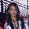 Le mannequin éthiopien Liya Kebede assiste au dîner de gala célébrant le calendrier Pirelli 2013. Rio de Janeiro, le 27 novembre 2012.