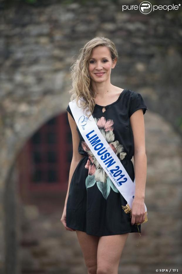 Sandra Longeaud, Miss Limousin, candidate pour Miss France 2013, le 8 décembre 2012 sur TF1