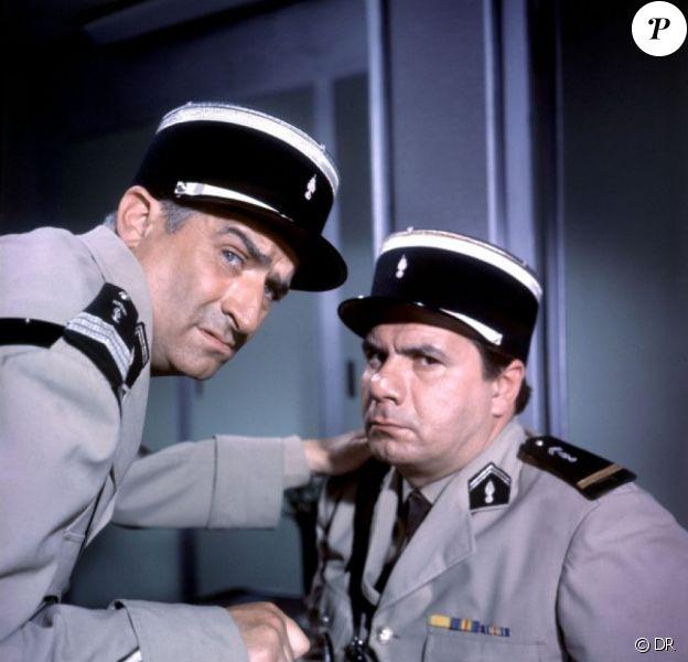 Louis de Funès et Michel Galabru, légendaires Gendarmes.