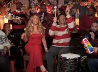 Mariah Carey : Pulpeuse mère Noël, aux côtés de Jimmy Fallon déchaîné