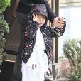 Christina Aguilera, son compagnon Matthew Rutler et son fils Max Bratman, en tenue de karaté, le 8 décembre 2012.