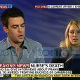 Mel Greig et Michael Christian, les deux animateurs radio qui ont piégé les infirmières du King Edward VII Hospital, dans l'émission australienne A Current Affair diffusée sur Nine Network, le 10 décembre 2012.