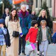 Liv Tyler et son fils Milo dans les rues de New York, le 14 décembre 2012.