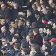 Nicolas Sarkozy lors du match entre le PSG et Lyon le 16 décembre 2012 au Parc des Princes (victoire 1-0 du PSG) à Paris