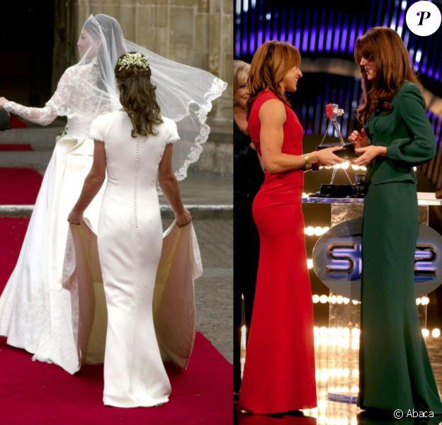 Jessica Ennis, somptueuse en robe Victoria Beckham lors de la soirée BBC Sports Personality of the Year, le 16 décembre 2012 à Londres, a ravi le titre de 'derrière de l'année' à Pippa Middleton.