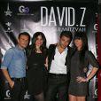 EXCLU - Alexandre, David et Cynthia lors de l'anniversaire de David de Qui veut épouser mon fils ? 2 chez Monsieur Papillon à Paris le 27 novembre 2012