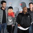 Les membres du jury de The Voice : Christina Aguilera, Adam Levine, Cee Lo Green et Blake Shelton, à Los Angeles le 8 novembre 2012.