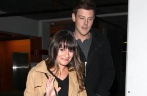 Lea Michele : Radieuse au bras de son chéri Cory Monteith malgré le froid