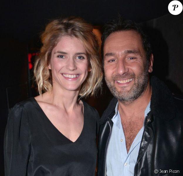 Alice Taglioni et Gilles Lellouche lors de la soirée A Club - Toiles enchantées chez Castel le jeudi 13 décembre 2012