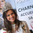 Marine Lorphelin, Miss France 2013, de retour dans sa ville natale, Charnay-les-Macon en Bourgogne, le 19 décembre 2012