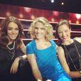 Sofia Essaïdi, Lorie et Natasha St-Pier lors de l'enregistrement de l'émission spéciale Jean-Jacques Goldman, qui sera diffusée courant Janvier sur TF1 !
