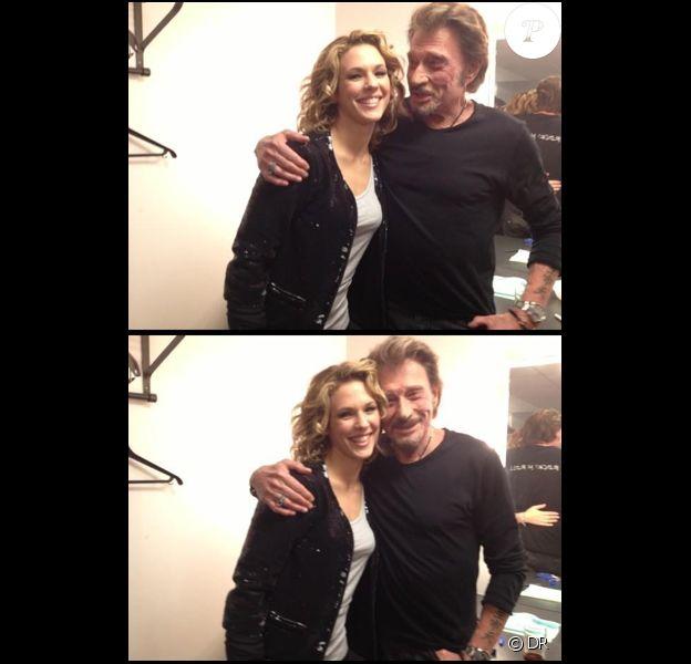 Lorie et Johnny Hallyday, dans les coulisses de l'enregistrement de l'émission spéciale Jean-Jacques Goldman, qui sera diffusée courant Janvier sur TF1 !