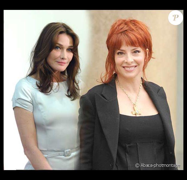 Carla Bruni et  Mylène Farmer