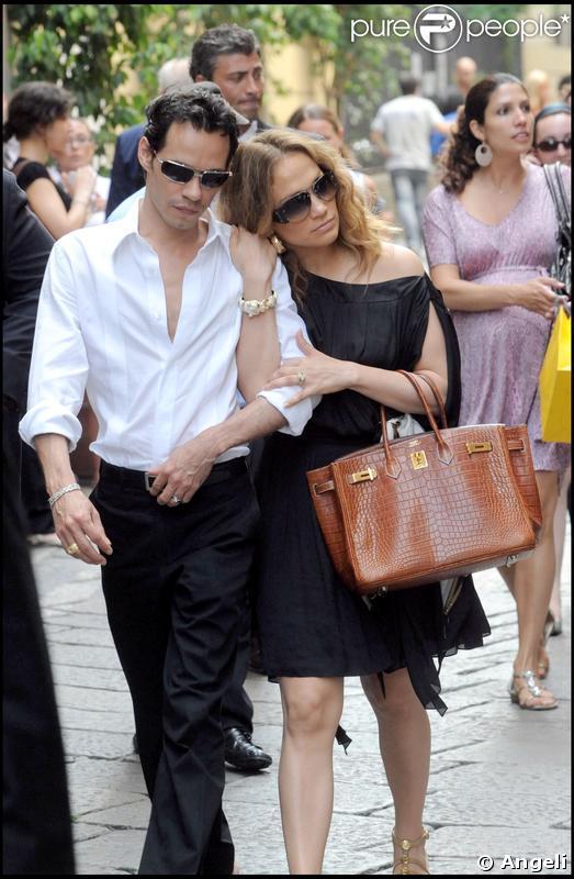 Jenifer Lopez et Marc Anthony : shopping à milan