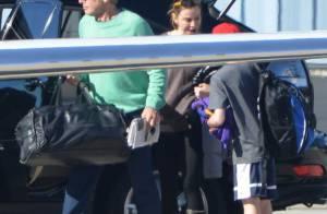 Harrison Ford emmène dans les airs sa femme Calista Flockhart et leur fils Liam